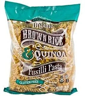 Trader Joe's Organic Brown Rice & Quinoa Fusilli Pasta GLUTEN FREE 16 oz (CASE OF 4)