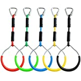 ZNCMRR Colorful Swing Gymnastic Bar Rings, Outdoor Backyard Play Sets & Playground Equipment for...