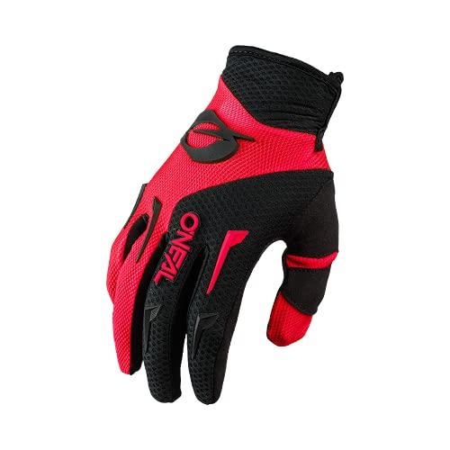 O'NEAL | Fahrrad- & Motocross Handschuh | Kinder | MX MTB DH FR Downhill Freeride | Langlebige, Flexible Materialien, belüftete Handinnenfäche | Element Youth Glove | Schwarz Rot | Größe L