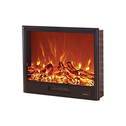 ScottDecor Un calentadorUn Ventilador de calefacción Cocina eléctrica con Efecto de Llama de Fuego, Estufa de leña eléctrico portátil con Estufa de leña Efecto 700x180x600mm