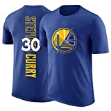 BMSD Camiseta de Manga Corta Hombre NBA Warriors No. 30 Jersey Print Club Casual Street Teenager Half Sleeve Tees Youth Basketball Sport, L