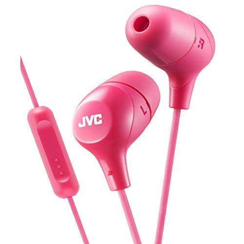 JVC in-ear hoofdtelefoon met 1-knops afstandsbediening en microfoon 0 roze