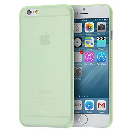 doupi UltraSlim Custodia per iPhone 6 Plus / 6S Plus (5,5 Pollici), Satinato fine Piuma Facile Mat Semi Trasparente Cover, Verde