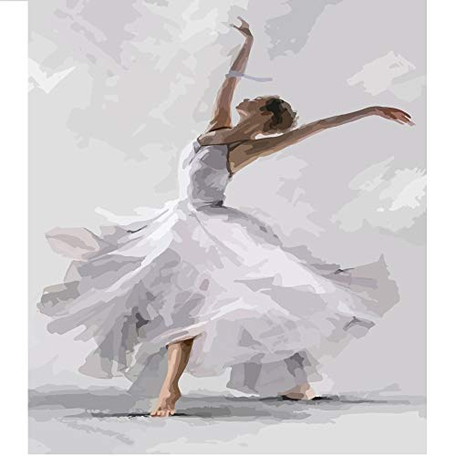 U/A Digitales Ölgemälde Handgemalte Ballerina Kunst Charakter Ölgemälde Eingang Wohnzimmer Dekoration Malerei Kern