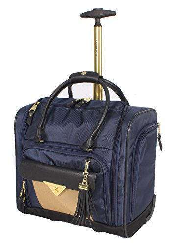 Steve Madden Luggage Wheeled Suitcase Under Seat Bag