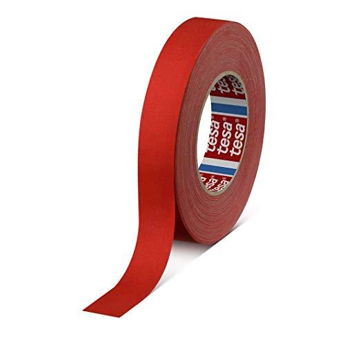 tesa band 4541 | flexibles, hochreißfestes, unbeschichtetes Gewebeband | 145 mesh, Länge: 50 m, versch. Farben und Breiten (19 mm, rot)