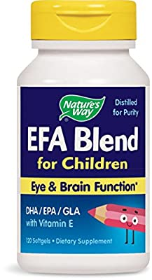 Natures Way Mega 3-6-9 Omega for Children Efa Blend, 120 Sftgls by Nature's Way