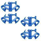 STOBOK 4 Unidades de Abrazadera de Tubo de Agua para Acuario Pinza Ajustable para Tubo de Entrada de Salida de Pecera Abrazadera Fija para Tubo de Plástico