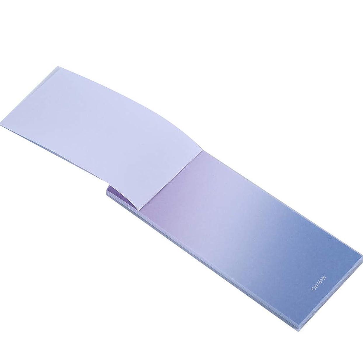 ヒステリックホールド義務TIMETRIES カラーグラデーションポストイットメモ文房具メッセージメモ帳,紫色