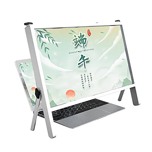 QHW 3D High-Definition Laptop Screen Magnifier, 21' Convenient Folding Projection Display,...