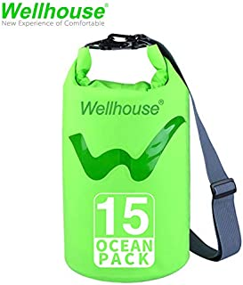 wellhouse Waterproof Dry Bag 5L/10L/20L-Water Resistant Lightweight Backpack with Handle-Floating Dry Storage Ocean Bag Keeps Gear Impervious to Water-Perfect for Kayaking, Boating, Birthday Gift