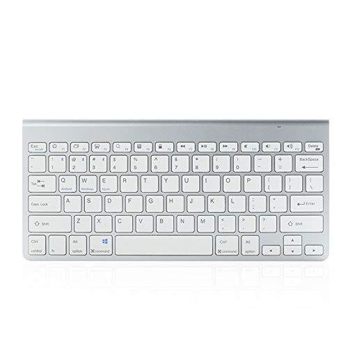 Keycaps 78-chiave mini tastiera senza fili Bluetooth ultrasottile ricaricabile tastiera batteria 10M Tablet Workplace tastiera (Asse del corpo : Rechargeable Type, Colore : Argento)