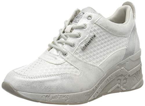 MUSTANG Damen 1319-303-121 Sneaker, Weiß (Weiß/Silber 121), 41 EU