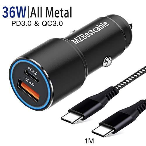 Auto Ladegerät USB C,kfz Schnellladegerät für Samsung Galaxy S20 Plus Ultra 5G S10 S10E S8 S9,Note 20 10 8 9,A71 A51 A41 A31,A50 A70 A80 A90,Pixel 3A 4 4A XL,Power Delivery&QC 3.0+1M C TO C Ladekabel