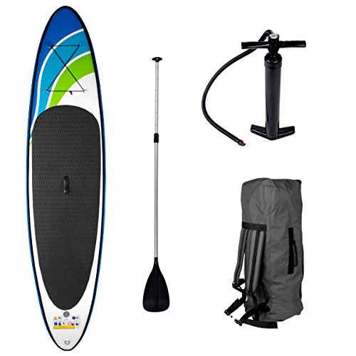 SUP Board Stand up Paddle Paddling Speed 320x76x15cm aufblasbar Alu-Paddel Hochdruck-Pumpe Rucksack Kick-Pad bis 150KG gewebtes Drop Stitch