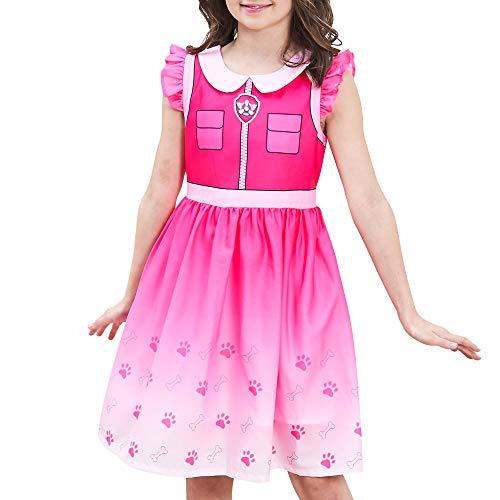 Sunny Fashion Vestido para nia Patrulla Canina de la Pata Skye Disfraz Fiesta de Halloween Infantil Cosplay Cumpleaos Navidad 7 aos