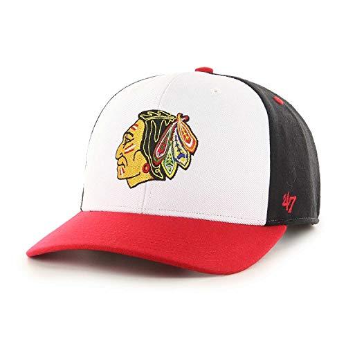47Brand Chicago Blackhawks Vintage Black Replica Snapback Cap