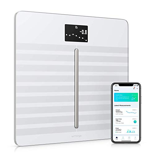 Withings Body Cardio – Bilancia Intelligente con Analisi Composizione Corporea, Monitoraggio Frequenza Cardiaca, Pesapersone Digitale da Bagno, Sincronizzazione dell'App tramite Bluetooth o Wi-Fi