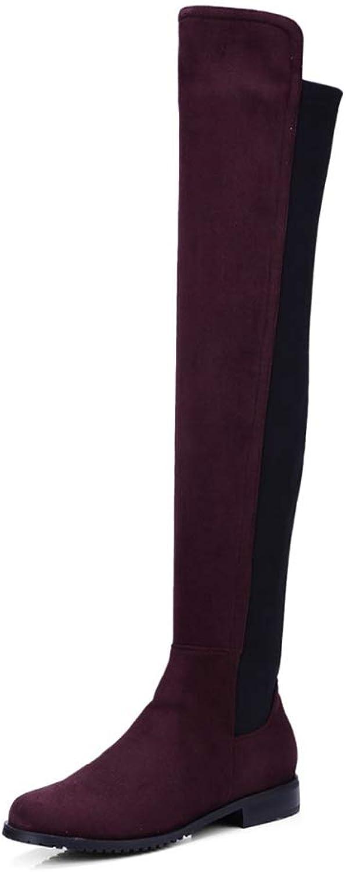 T -JULY -JULY -JULY Sträck ut tyg över Knee Stövlar för kvinnor med högklackade skor  snabb leverans och fri frakt på alla beställningar