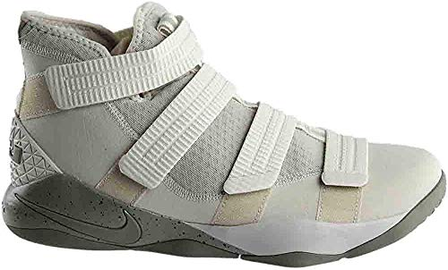 Nike Men's LeBron Soldier XI SFG Basketball Shoe Light Bone/Dark Stucco-Black 12