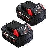 2Packs 6000mAh High Output M-18 Battery...