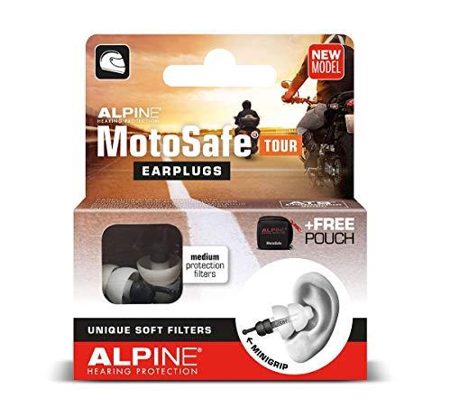 Alpine Motosafe Tour Ohrstöpsel Gehörschutz für Motorradfahrer Filterohrstöpsel
