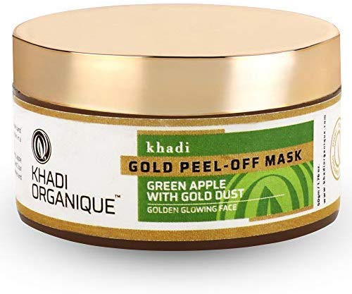 Glamorous Hub Khadi Organique Gold Peel Off Mask 50 G (la confezione può variare)