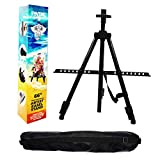 """Pintar Art Supply 66"""" Professional Adjustable Artist Easel Stand with Travel Carrying Bag Included 