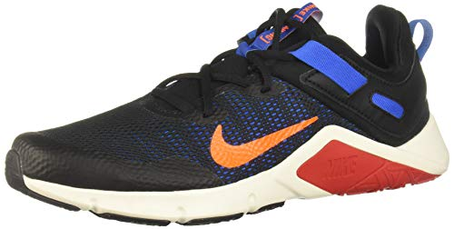 Nike Legend Essential, Zapatillas para Caminar Hombre, Black/Total Orange-Soar-Pale Ivory, 45 EU