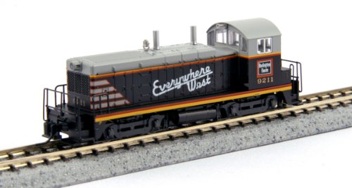 Kato USA Model Train Products EMD NW2#9211 CB and Q Everywhere West N Scale Train
