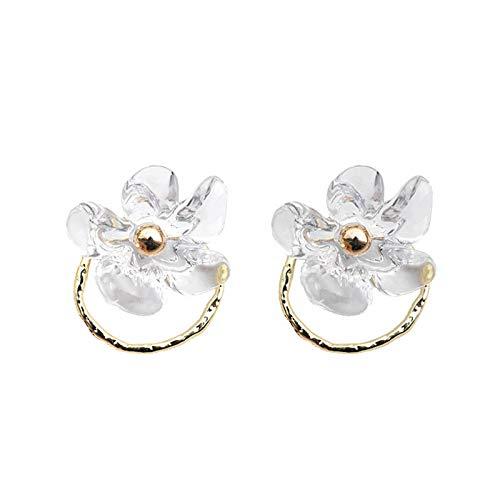 N&A Pendientes Pendientes de Hadas de Flores Pendientes de Mujer Un par de Pendientes Dulces Pendientes de Botón Populares