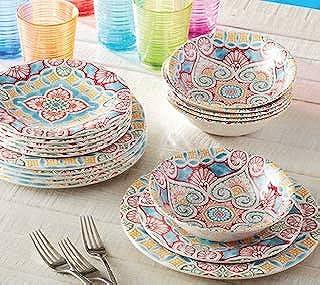 18 Piece Melamine Dinnerware Set