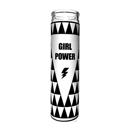 """Women Who DGAF Girl Power Candle - 7.5"""" Tall, 80 hour burn time - Friendship gifts for women - Cute Candle for Feminists, Daughters, Girl Boss, Coworkers and Besties"""
