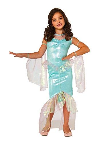 Rubie's Costume Disfraz de sirena Deluxe para niños, grande