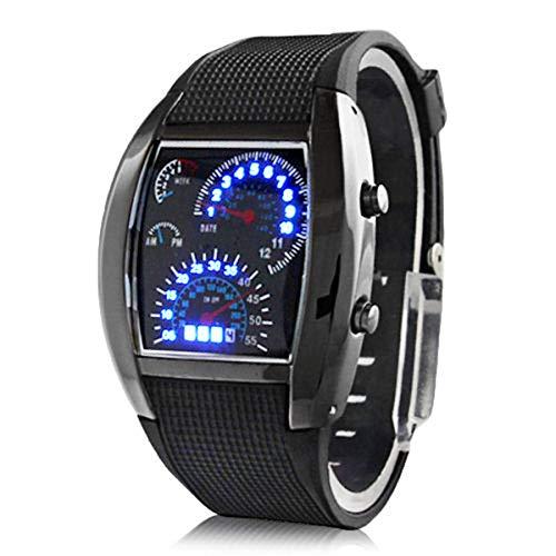 Homeriy Reloj deportivo multifuncional, analógico, con banda de Slicon, reloj deportivo para hombres y mujeres, interesante y novedoso.