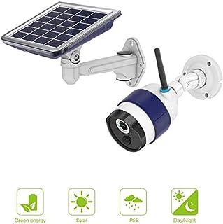 WXJHA Solar al Aire Libre WiFi cámara la batería Recargable de baterías para cámaras de Seguridad con activada por Movimiento de Empuje de la visión Nocturna PIR Sensor de Alerta