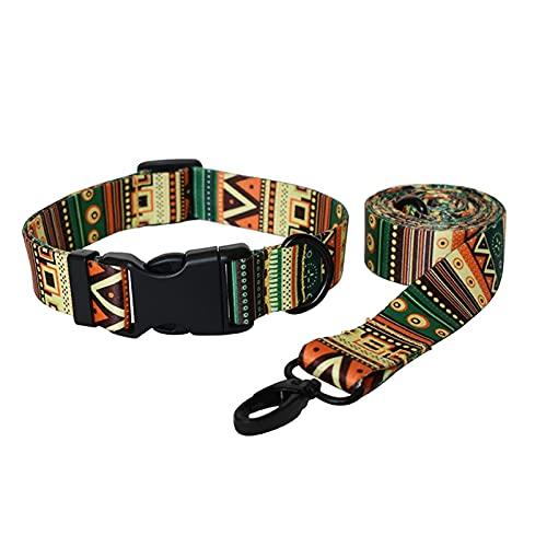 WSYGHP Correa para perros Collar y accesorios para mascotas Collar de perro Beagle collar y correa Set de correas para perro (color burdeos, tamaño: L)