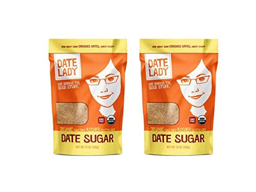 Organic Date Sugar, 1.5 lb | 100% Whole Food | Vegan, Paleo, Gluten-free & Kosher | 100% Ground Dates | Sugar Substitute and Alternative Sweetener for Baking | Contains Fiber from the Date (2 Bags)