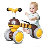 Ancaixin Baby Balance Bikes 10 - 36 Month Children Walker | Toys for 1 Year Old Boys Girls | No Pedal Infant 4 Wheels Toddler Bicycle | Best First Birthday New Year Holiday (Bee)