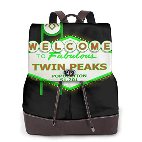Viva Twin Peaks Las Vegas Women's Bapack, College Girl School Bag, Ladies Travel Bapack, Ladies Leather Bapackck