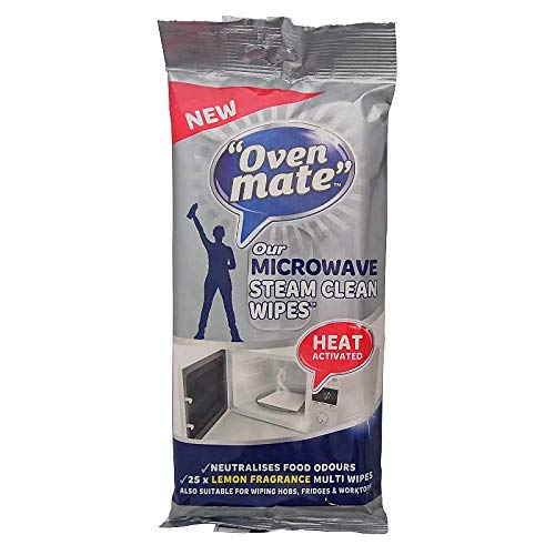 Oven Mate Microwave Steam Clean Cleaning Cloths - Pack of 25