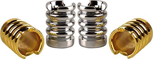 yaoviz 4 matascas para cenicero, diseño de ondas, metal dorado y plateado, de gran calidad, abierto, extintor de brasas.