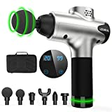 Massage Gun, Portable Body Muscle Massager 20 Speeds Handheld Percussion Massager Gun, Professional Deep Tissue Massager Legiral Le3 Electric Massage Gun for Athletes with 6 Massage Heads