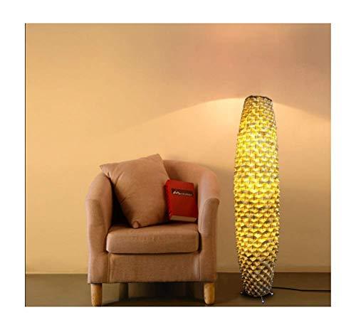 Bamboe Vloerlamp, Woonkamer Slaapkamer Verticale Verlichting Corridor Retro Vloerlamp (Product bevat geen lamp)