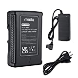 Miady 99Wh V-Mount V-Lock Battery with D-Tap and USB Port Compatible with Sony Video Digital Camera Camcorder Broadcast DSLR, LED Light, Monitor, HDCAM, XDCAM (D-Tape Charger Included)