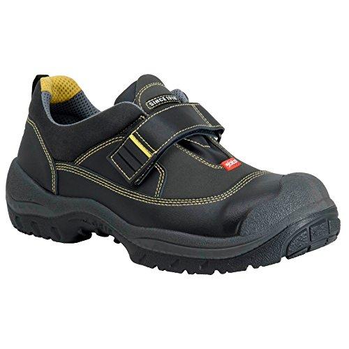 """ejendals 3358s-45Tamaño 45""""jalas 3358s Easy Grip Zapatos de Seguridad, Negro/Gris/Amarillo"""
