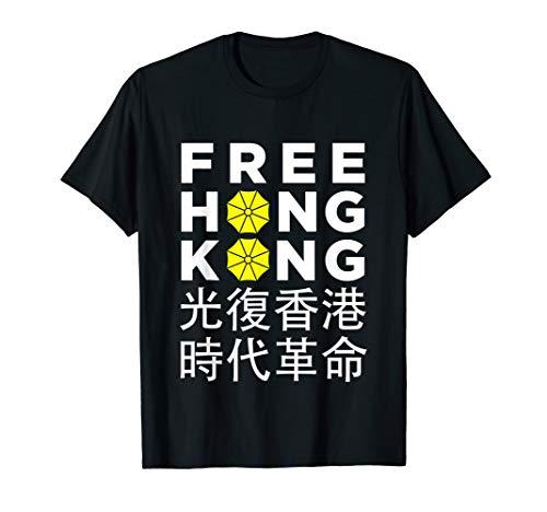 Free Hong Kong - Umbrella Revolution Protest T-Shirt