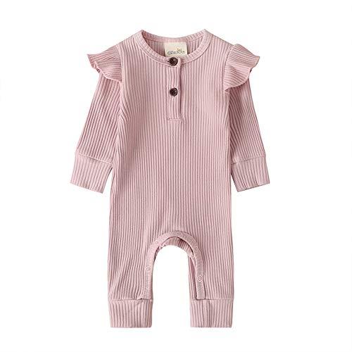 Hnyenmcko Peuter Pasgeboren Baby Meisje Jongen Gebreide Romper Bodysuit Ruche Jumpsuit Herfst Winter Outfits Kleding