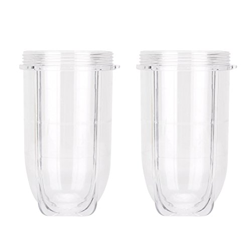 Magic Bullet Replacem Cups,QT 2 PCS Replacement 16 Ounce Tall Jar Cups Fit For Magic Bullet Blender Juicer Mixer 250W MB1001 Accessories …