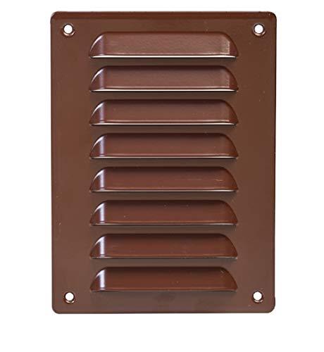 Ventilatierooster 140x190mm afsluitrooster bescherming tegen insecten afvoerlucht toevoerrooster, bruin, mr1419b